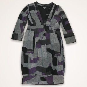 LE CHATEAU Bubble Hem Geo Print Sweater Dress